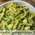 Fusilli with green asparagus pesto with Thermomix