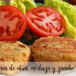 Tuna, hake and carrot burgers with Thermomix