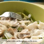 Green beans with mushrooms with thermomix