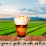 Port apple with cream with thermomix