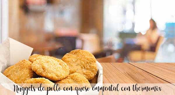 Chicken nuggets with emmental cheese with thermomix