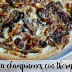Mushroom pizza with Thermomix