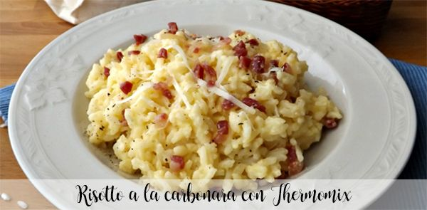Carbonara risotto with Thermomix