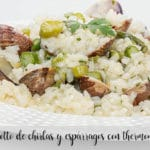Chirlas and asparagus risotto with thermomix