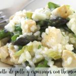 Chicken and asparagus risotto with thermomix