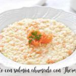 Risotto with smoked salmon with Thermomix