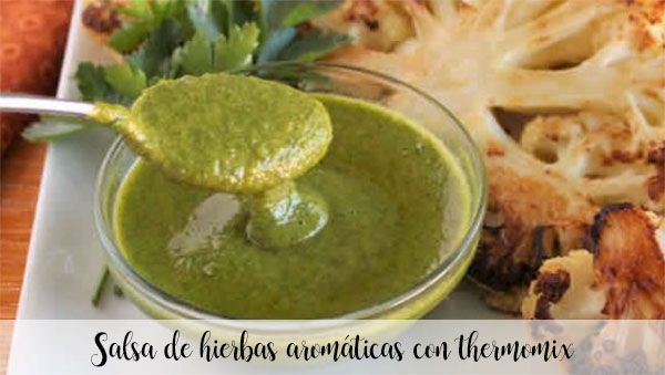Aromatic herb sauce with thermomix