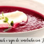 Borsch soup or beetroot soup with Thermomix