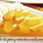 Pineapple and peach cake with Thermomix