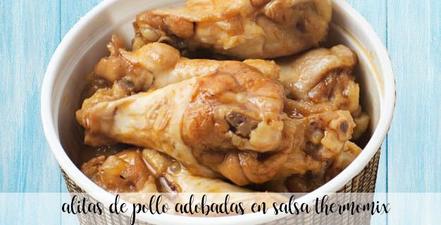 Chicken wings marinated in sauce with thermomix