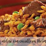 Creamy rice with cheeks with thermomix