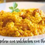 Creamy rice with sausages with thermomix