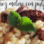 Creamy rice or Rissoto with octopus with Thermomix
