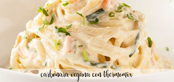 Vegetarian Carbonara Thermomix