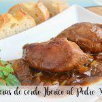 Iberian pork cheeks with Pedro Ximenez with Thermomix