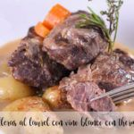 Laurel cheeks with white wine with thermomix