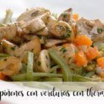 Mushrooms with vegetables with thermomix