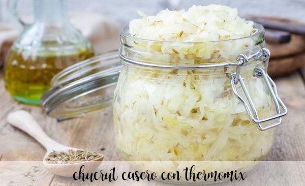 homemade sauerkraut with thermomix