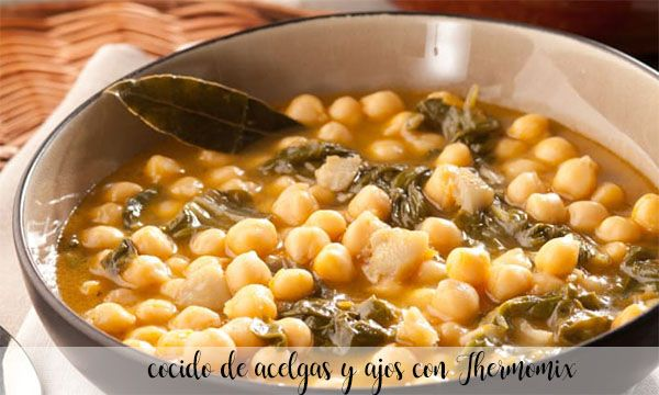 chard and garlic stew with Thermomix