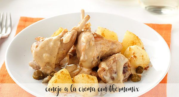 Creamy rabbit with Thermomix