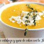 Pumpkin cream and goat cheese with the Thermomix