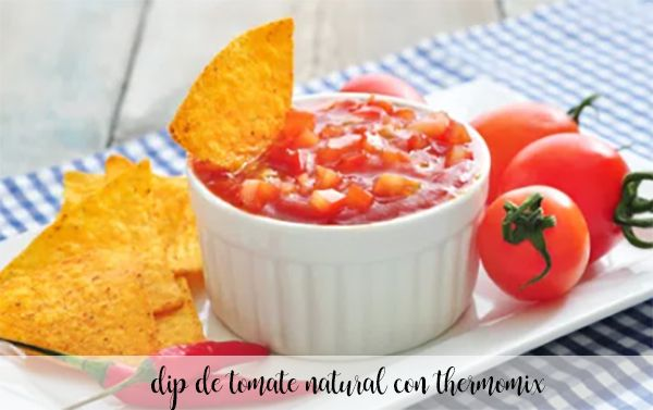 Natural tomato dip with thermomix