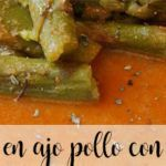 Asparagus in garlic chicken with Thermomix