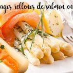 Asparagus stuffed with salmon with hot sauce with thermomix