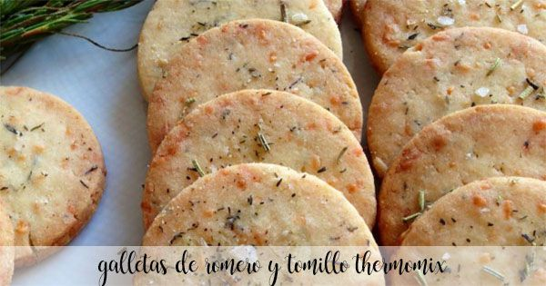Rosemary and thyme cookies with thermomix