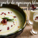White asparagus gazpacho with thermomix