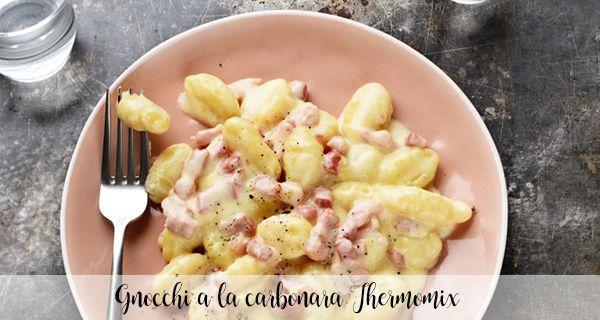 Gnocchi or Gnocchi a la carbonara Thermomix