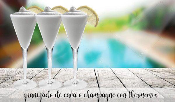 Champagne or cava granita with Thermomix