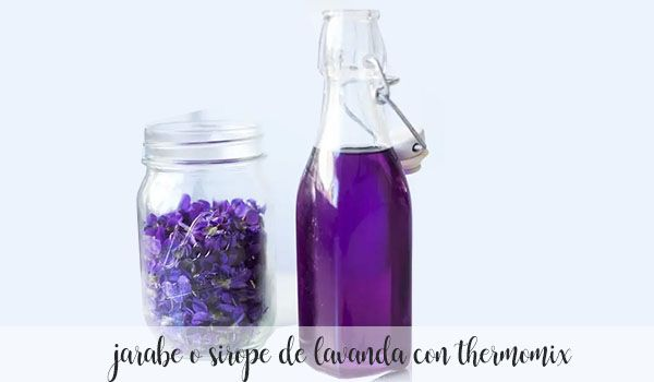 lavender syrup or syrup with thermomix