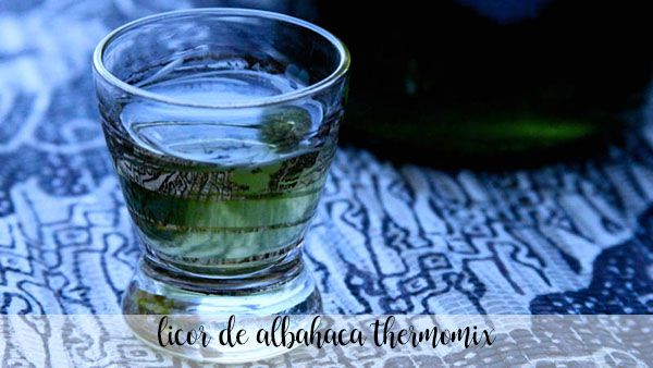 basil liqueur with thermomix