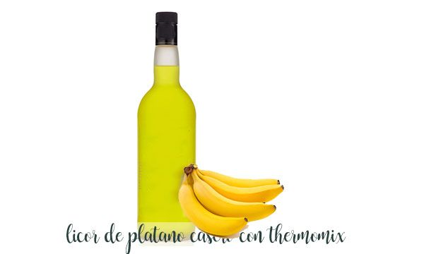 Banana liqueur with thermomix