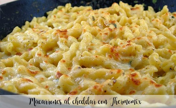 Cheddar macaroni with Thermomix