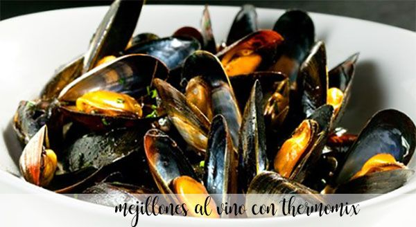 Mussels in wine with thermomix