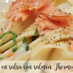 Nests in sauce with Thermomix salmon