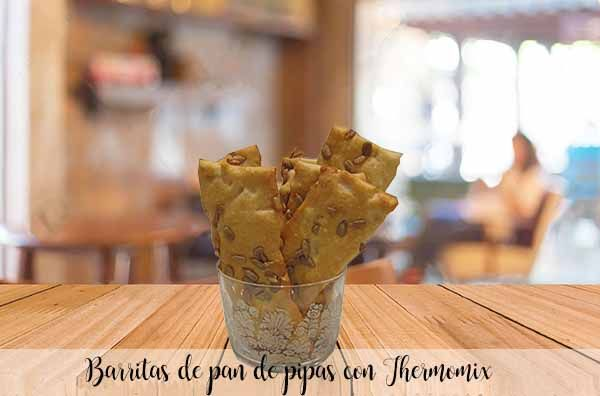 Pipe bread bars with Thermomix