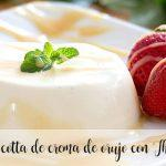 Pomace cream panna cotta with Thermomix
