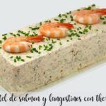 Salmon and prawn cake with Thermomix