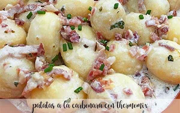Potatoes carbonara with thermomix