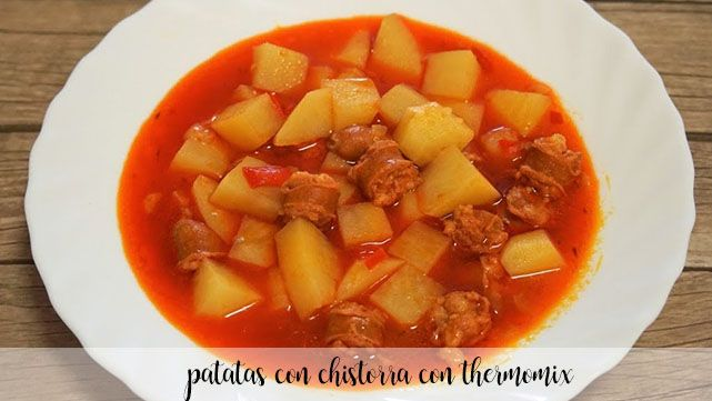 Chistorra potatoes with thermomix