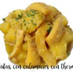 Potatoes stewed with squid with Thermomix