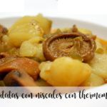 Potatoes with chanterelles with thermomix