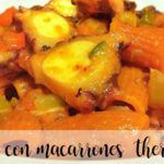 Octopus with macaroni with thermomix