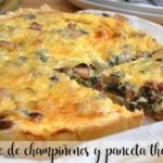 Mushroom and bacon quiche with thermomix