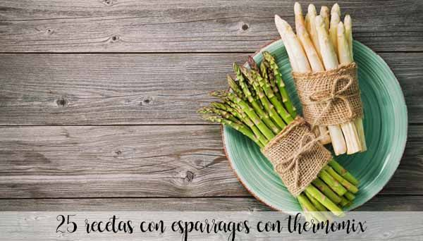 25 recipes with asparagus with thermomix