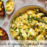 Scrambled eggs with wild asparagus with thermomix