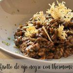 Black garlic risotto with thermomix